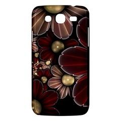 Flower Background Line Samsung Galaxy Mega 5 8 I9152 Hardshell Case  by amphoto