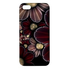 Flower Background Line Iphone 5s/ Se Premium Hardshell Case by amphoto