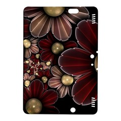 Flower Background Line Kindle Fire Hdx 8 9  Hardshell Case by amphoto