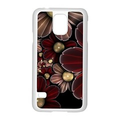 Flower Background Line Samsung Galaxy S5 Case (white) by amphoto