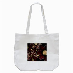 Flower Background Line Tote Bag (white) by amphoto