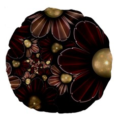 Flower Background Line Large 18  Premium Flano Round Cushions by amphoto