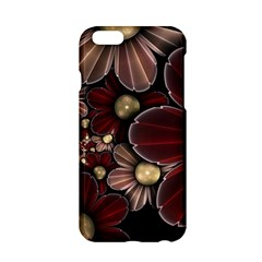 Flower Background Line Apple Iphone 6/6s Hardshell Case by amphoto