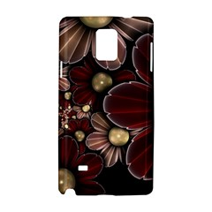 Flower Background Line Samsung Galaxy Note 4 Hardshell Case by amphoto
