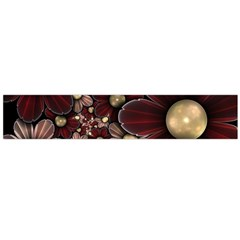 Flower Background Line Flano Scarf (large)  by amphoto