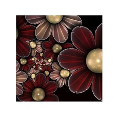 Flower Background Line Small Satin Scarf (square)  by amphoto
