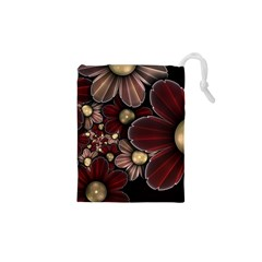 Flower Background Line Drawstring Pouches (xs)  by amphoto