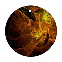 Spot Background Dark  Round Ornament (two Sides) by amphoto