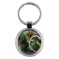 Connection Background Line Key Chains (round)  by amphoto