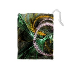 Connection Background Line Drawstring Pouches (medium)  by amphoto