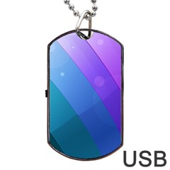 Line Glare Light 3840x2400 Dog Tag Usb Flash (one Side) by amphoto