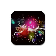 Plant Patterns Colorful  Rubber Square Coaster (4 Pack)  by amphoto