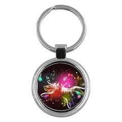 Plant Patterns Colorful  Key Chains (round)  by amphoto