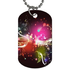 Plant Patterns Colorful  Dog Tag (two Sides) by amphoto