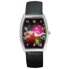 Plant Patterns Colorful  Barrel Style Metal Watch by amphoto
