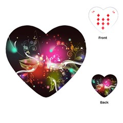 Plant Patterns Colorful  Playing Cards (heart)  by amphoto