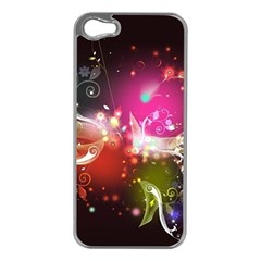 Plant Patterns Colorful  Apple Iphone 5 Case (silver) by amphoto