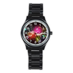 Plant Patterns Colorful  Stainless Steel Round Watch by amphoto