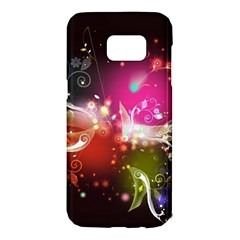 Plant Patterns Colorful  Samsung Galaxy S7 Edge Hardshell Case by amphoto