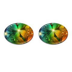 Flowers Petals Colorful  Cufflinks (oval) by amphoto