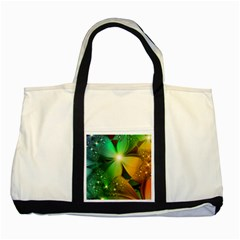 Flowers Petals Colorful  Two Tone Tote Bag by amphoto