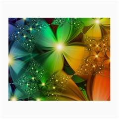 Flowers Petals Colorful  Small Glasses Cloth (2 Side) by amphoto