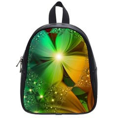 Flowers Petals Colorful  School Bag (small) by amphoto