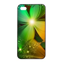 Flowers Petals Colorful  Apple Iphone 4/4s Seamless Case (black) by amphoto
