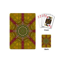 Mandala In Metal And Pearls Playing Cards (mini)  by pepitasart