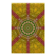 Mandala In Metal And Pearls Shower Curtain 48  X 72  (small)  by pepitasart