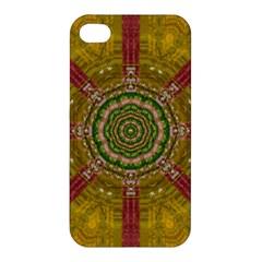 Mandala In Metal And Pearls Apple Iphone 4/4s Premium Hardshell Case by pepitasart