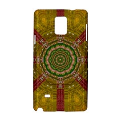 Mandala In Metal And Pearls Samsung Galaxy Note 4 Hardshell Case by pepitasart