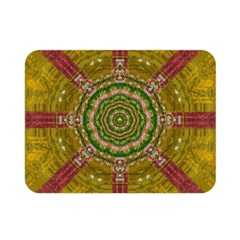 Mandala In Metal And Pearls Double Sided Flano Blanket (mini)  by pepitasart