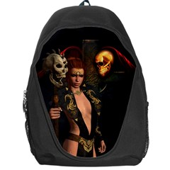 The Dark Side, Women With Skulls In The Night Backpack Bag by FantasyWorld7