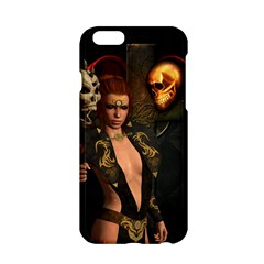 The Dark Side, Women With Skulls In The Night Apple Iphone 6/6s Hardshell Case by FantasyWorld7
