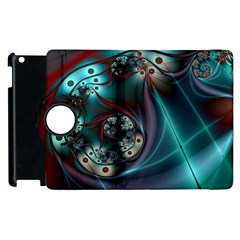 Rotation Patterns Lines  Apple Ipad 3/4 Flip 360 Case by amphoto