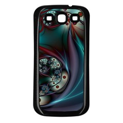 Rotation Patterns Lines  Samsung Galaxy S3 Back Case (black) by amphoto