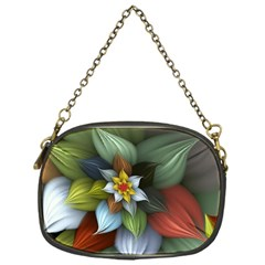 Flower Background Colorful Chain Purses (one Side)  by amphoto