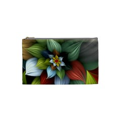 Flower Background Colorful Cosmetic Bag (small)  by amphoto