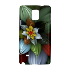 Flower Background Colorful Samsung Galaxy Note 4 Hardshell Case by amphoto