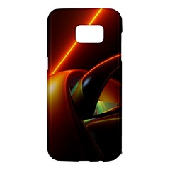 Line Figure Background  Samsung Galaxy S7 Edge Hardshell Case by amphoto