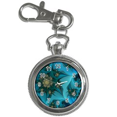 Fractal Flower White Key Chain Watches by amphoto