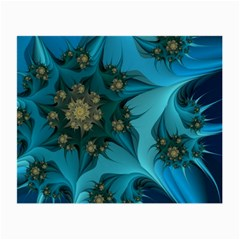 Fractal Flower White Small Glasses Cloth (2 Side) by amphoto