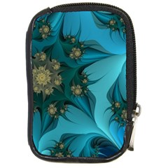 Fractal Flower White Compact Camera Cases by amphoto