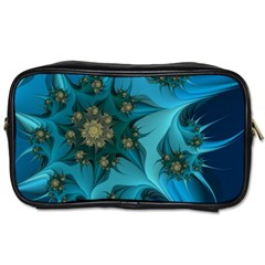 Fractal Flower White Toiletries Bags by amphoto