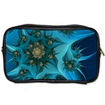 Fractal Flower White Toiletries Bags 2-Side Front