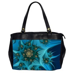 Fractal Flower White Office Handbags (2 Sides)  by amphoto