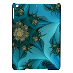 Fractal Flower White Ipad Air Hardshell Cases by amphoto