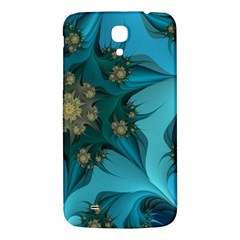 Fractal Flower White Samsung Galaxy Mega I9200 Hardshell Back Case by amphoto