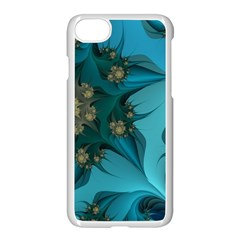 Fractal Flower White Apple Iphone 7 Seamless Case (white) by amphoto